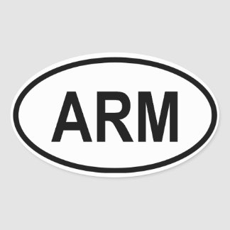 "Armenia ""ARM"" Oval Sticker"