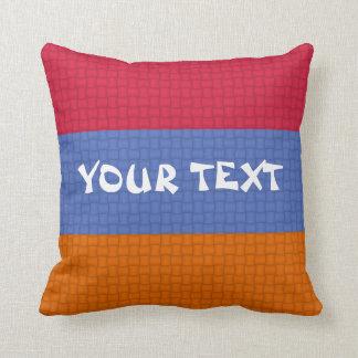 Armenia Armenian flag: ADD TEXT Throw Pillow