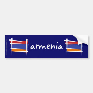 Armenia Brush Flag Bumper Sticker