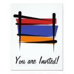 Armenia Brush Flag Custom Invites