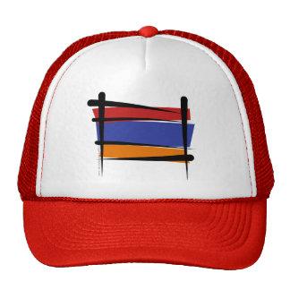 Armenia Brush Flag Trucker Hat