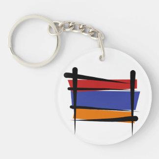 Armenia Brush Flag Keychain