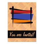 Armenia Brush Flag Personalized Invites