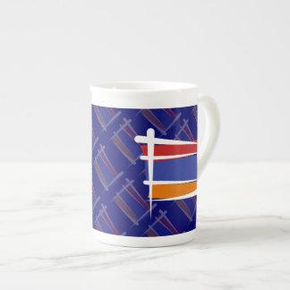 Armenia Brush Flag Tea Cup