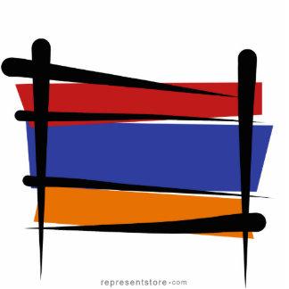 Armenia Brush Flag Statuette