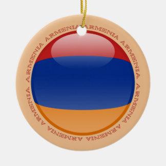 Armenia Bubble Flag Ceramic Ornament