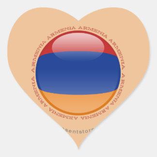 Armenia Bubble Flag Heart Sticker