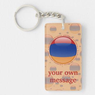 Armenia Bubble Flag Keychain