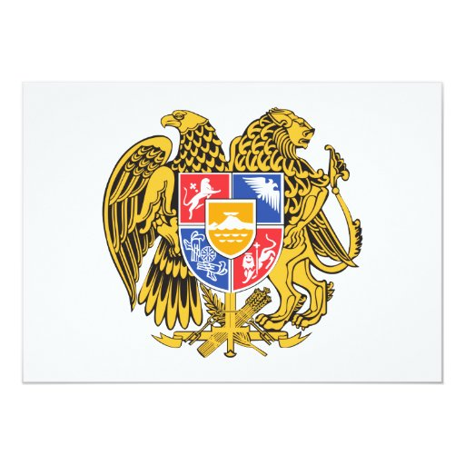Armenia Coat of Arms Personalized Invitations