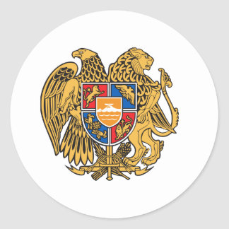 Armenia Coat of Arms Round Stickers