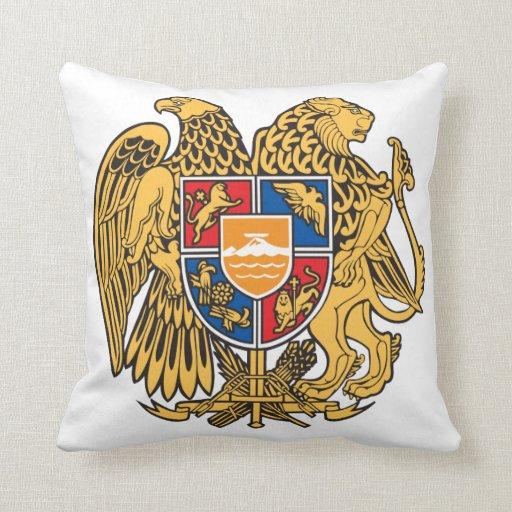 Armenia Coat Of Arms Throw Pillows