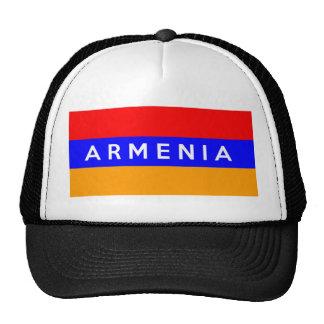 armenia country flag text name mesh hats
