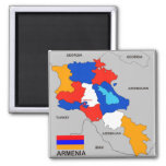 armenia country political map flag fridge magnet