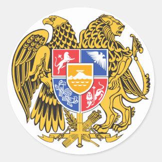 armenia emblem classic round sticker