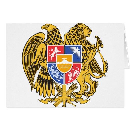 armenia emblem greeting card