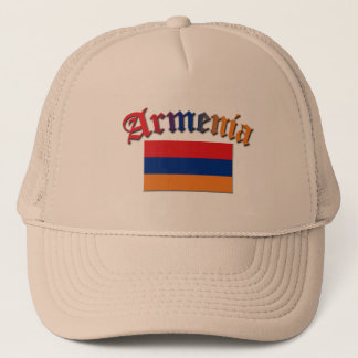 Armenia Flag 3 Color Trucker Hat