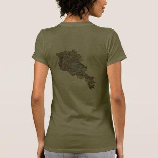 Armenia Flag and Map dk T-Shirt Shirt