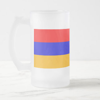 Armenia Flag; Armenian 16 Oz Frosted Glass Beer Mug