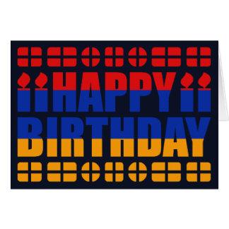 Armenia Flag Birthday Card