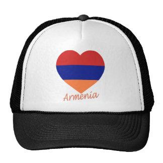 Armenia Flag Heart Hats