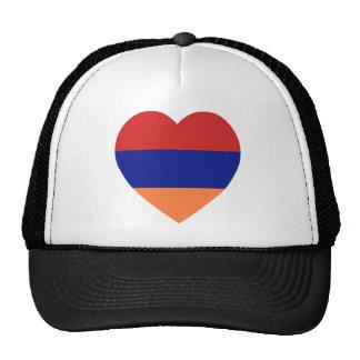 Armenia Flag Heart Trucker Hat