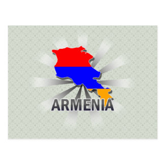 Armenia Flag Map 2.0 Postcard