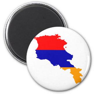Armenia Flag map AM 2 Inch Round Magnet