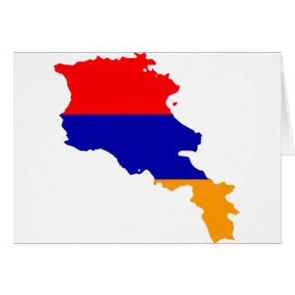 Armenia Flag map AM Card