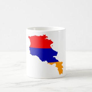 Armenia Flag map AM Coffee Mug