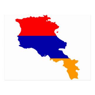 Armenia Flag map AM Postcard