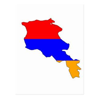Armenia flag map postcard