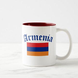 Armenia Flag Two-Tone Coffee Mug