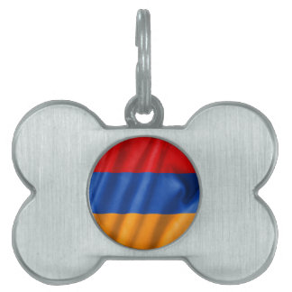 Armenia Flag Pet Name Tag