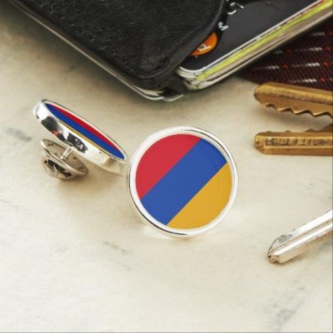 Armenia flag Planet Jill Round Lapel Pin