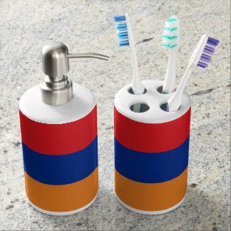 Armenia Flag Soap Dispenser & Toothbrush Holder