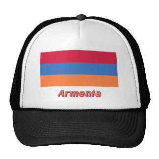 Armenia Flag with Name Mesh Hats