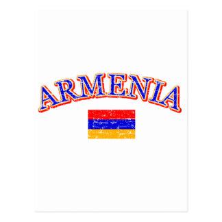 Armenia football design postcard