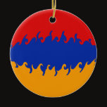 Armenia Gnarly Flag Ceramic Ornament