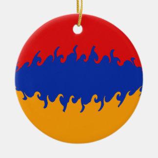 Armenia Gnarly Flag Ceramic Ornament