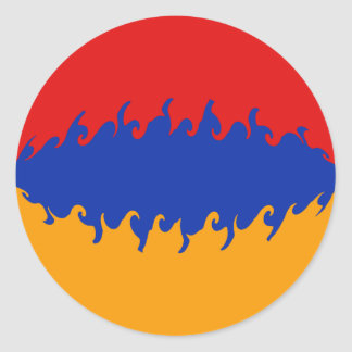 Armenia Gnarly Flag Classic Round Sticker