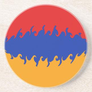 Armenia Gnarly Flag Drink Coaster
