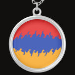 Armenia Gnarly Flag Silver Plated Necklace