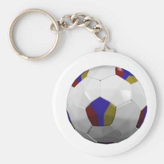 Armenia Basic Round Button Keychain
