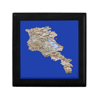 Armenia Map Gift Box