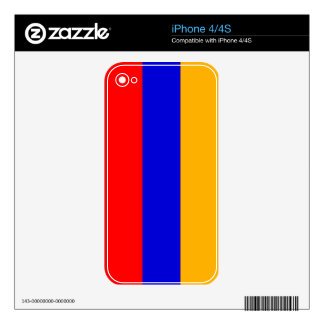 Armenia National Flag Skins For iPhone 4S