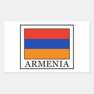 Armenia Pegatina Rectangular