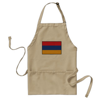 Armenia Plain Flag Adult Apron