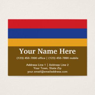 Armenia Plain Flag Business Card