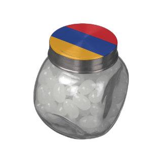 Armenia Plain Flag Glass Candy Jar