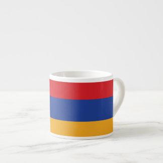 Armenia Plain Flag 6 Oz Ceramic Espresso Cup